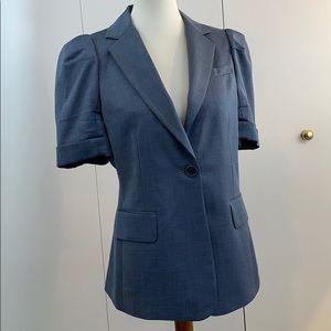 BCBGMAXAZRIA M blazer gray short sleeve